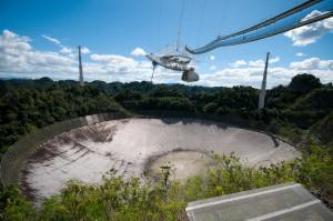 The Arecibo Radio Telescope in Puerto Rico. Image courtesy of SETI.