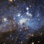 A star-forming region in the Large Magellanic Cloud, an irregular galaxy.
