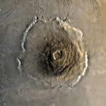 Top down view of Olympus Mons. NASA