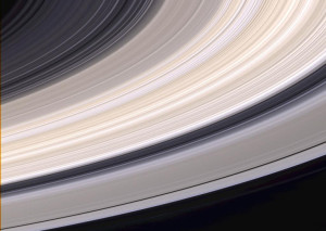 Natural color view of Saturn's rings. Image from NASA.