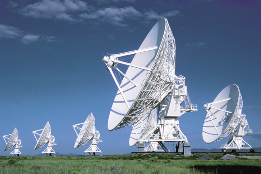 The Very Large Array (VLA) is a radio astronomy observatory located west of Socorro, New Mexico. The VLA has made key observations of black holes and protoplanetary disks around young stars, discovered magnetic filaments and traced complex gas motions at the Milky Way's center, probed the Universe's cosmological parameters, and provided new knowledge about the physical mechanisms that produce radio emission.
