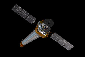 Chandra X-Ray Observatory in Space. NASA Image.