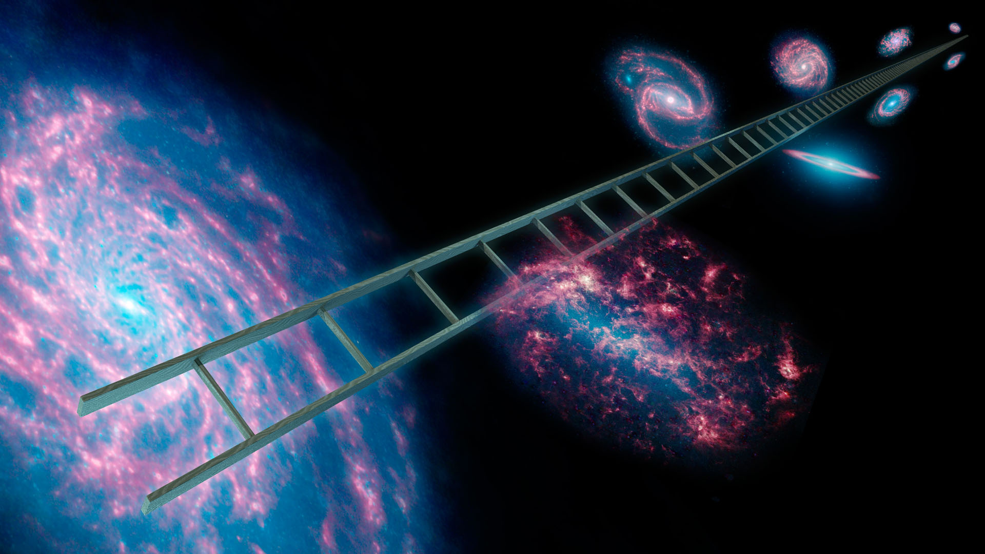 The cosmic distance ladder is the succession of methods by which astronomers determine the distances to celestial objects. Credit: SciTech Daily