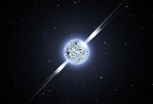 A very small dense star that is composed mostly of tightly-packed neutrons (neutronium).
