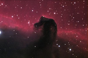 The Horsehead Nebula. This photo was taken on the morning of October 5, 2000, at Kitt Peak Observatory as part of the Advanced Observing Program. The telescope was a Meade 16 inch LX200 (f/6.3) with an SBIG ST-8E CCD camera.