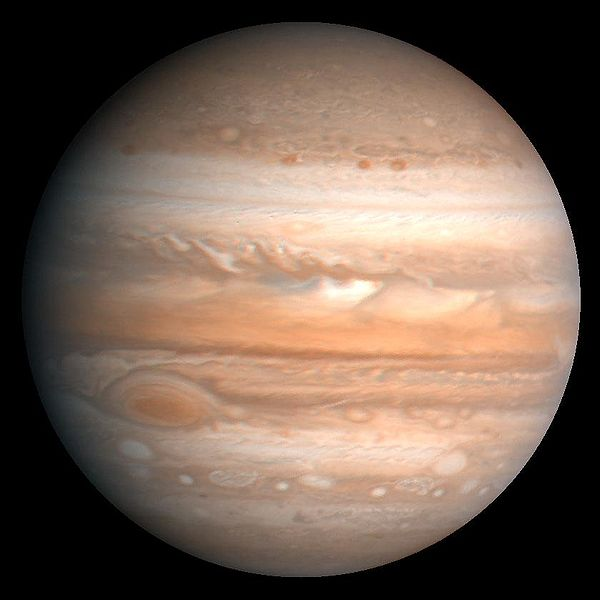Cloud bands clearly visible on Jupiter