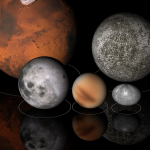Artist rendition of planets in our Solar System. NASA