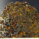 An Esquel meteorite of the pallasite type. Image from Smithsonian