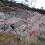 Scottish Highlands Granite dykes, showing baked margins and host rock assimilation. http://www.geologyrocks.co.uk/