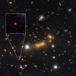 MACS0647-JD is a candidate for the farthest known galaxy from Earth. Image from NASA.