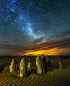 Meteor Shower Yifan Bai Photography 500px.com_photo_92890975 #desert #light #long exposure