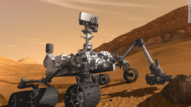 NASA's Mars Curiosity Rover, shown in this artist's rendering, touched down on the planet