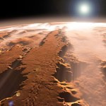 Artist's concept of the Valles Marineris canyons on Mars.