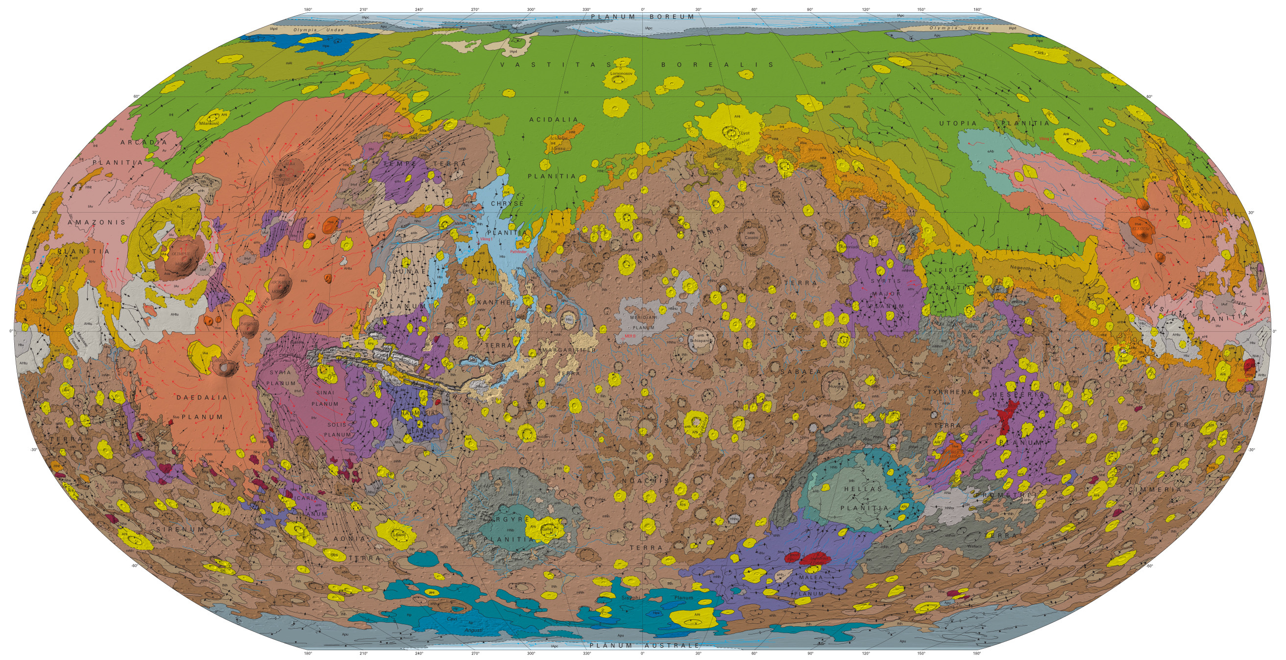 Geological survey of Mars