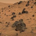PIA08440-Mars_Rover_Spirit-Volcanic_Rock_Fragment